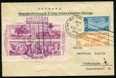 USA 1936 - Airmail Zeppelin  (Hindenburg) - First trans-atlantic flight to Europe