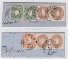 German States 1851/1863 - Saxony - a little selection plus 3 covers