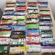 Many brands - scale 1/87 - collection of 80 models: German brewery trucks and advertising trucks/special trucks