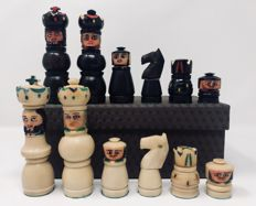 Antique and rare Russian tagua chess