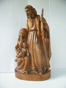 Wooden church Christmas group - 1st half of the 20th century - Germany