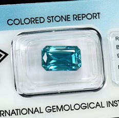 Intense blue zircon - 9.71 ct