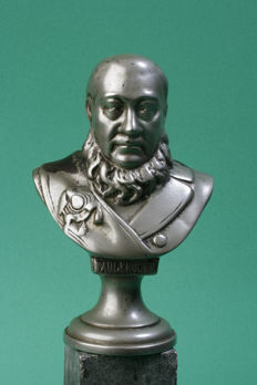 Rare old cast iron Bust PAUL KRUGER, Approx. 1900-1950 - 19 cm high, 2.5 kg