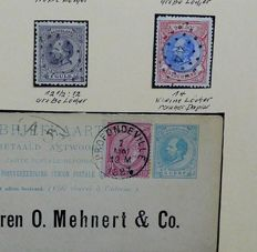 The Netherlands 1872/1894 - Collection stamps, postal stationary and numeral stamps