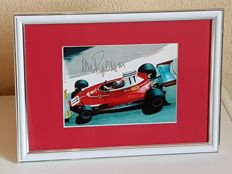 Clay Regazzoni (RIP) - Ferrari Formula 1 legend -  hand signed Monaco GP framed photo + COA.