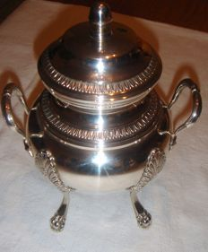 Sugar bowl in silver plated metal signed BOULANGER