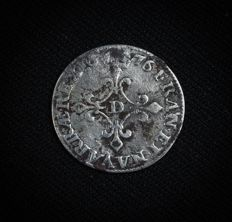 France – Louis XIV – 4 sols des traitants – 1676 D (Lyon) – Silver