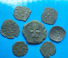 Italian Mints -- Lot of coins from medieval mints of South Italy -- Aragonese, Swabian, Angevine and Norman -- 12th–13th Century