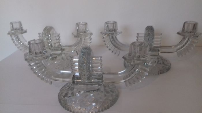 3 large candle holders