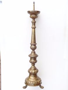 Classic brass altar candlestick - 1st half of the 19th century - France