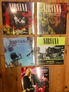 Nirvana Live Recordings ! || 5x LP || Limited Editions || Great records || All mint in sealing