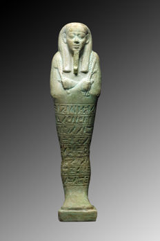 Large and fine quality Ushabti for Tius - 19,4 cm