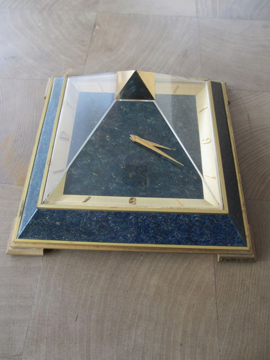 Pyramid clock by Jaeger LeCoultre in original box - c. 1960