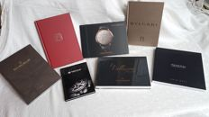 Small collection of 7 catalogue books from prestigious watch brands, 2016/2017