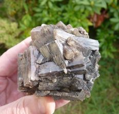 Nice and large twinned aragonite crystal - Old classic specimen - 6 x 6 - 598 g