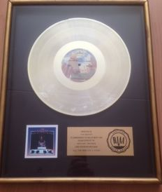 Gold RIAA Record Award Rush All the World's A Stage Lp Disc 1976 USA