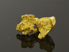 Gold nugget natural - 14.8 x 9.1 x 6.2 mm -  13.06 ct.