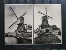 The Netherlands - Postal value items and miscellaneous, with a complete series of windmills picture postcards.