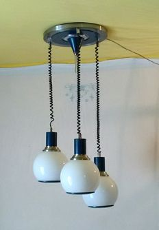 Unknown designer - Pendant light fixture, 1970s