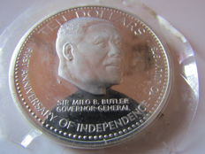 Bahamas - 10 Dollars 1974 '1st Anniversary of Independence' - silver