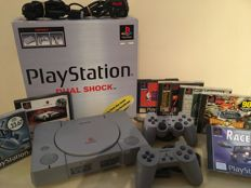 SONY PS1 Console in Original Box + 2 Official Controllers + 7 Classic Games inc Some Rare Games + Memory Card