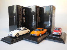 Minichamps - Scale 1/43 - Lot with 3 British models: Jaguar, Lotus & Morris Mini