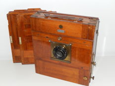 Professional wooden travel plate camera