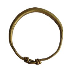 Early Medieval Viking Gold ring with knot - 19 mm