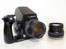 Bronica GS-1 6x7 camera with 2 lenses