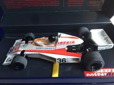 Super Slot - scale 1/32 - McLaren M23/6 F1 - Emilio De Villota - GP Spain 1977 - Limited Edition 1500