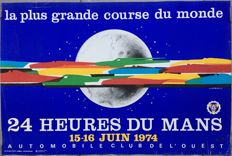 Original poster of the 24 hours of Le Mans 1974