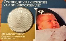 Netherlands - 10 Euro 2004 'Geboortemunt' (birth coin) in coin card - silver