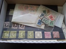German Empire, old states 1850/1970 - various kinds in pouches - cards in box