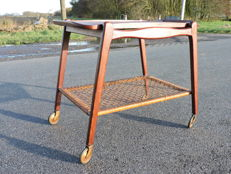 Manufacturer unknown - Scandinavian tea trolley - teak