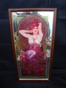 L'Amethyste by Alphonse Mucha from Four Precious Stones Collection - 1970