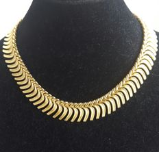 18 kt (750) gold - Articulated necklace - Weight: 84.20 g.