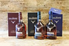 Dalmore - 12 YO - 15 YO - 18 YO - in original boxes - 3 Bottles