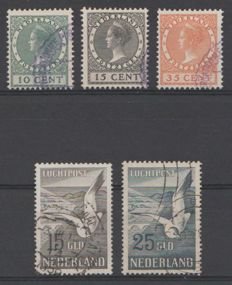 The Netherlands 1924/1951 - Exhibition stamps and airmail seagulls - NVPH 136/138 + LP12/13