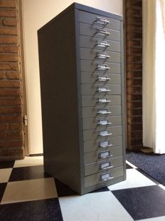 NVF - Industrial metal drawer chest