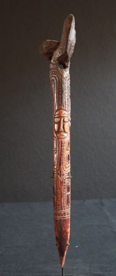 Rare Bone Dagger + Provenance - Lower Sepik - Papua New Guinea