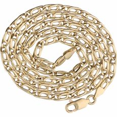 14 kt – Yellow gold, fantasy curb link necklace – Length: 45 cm