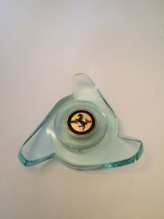 Ferrari - branded glass paperweight - cm. - 1990s