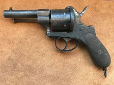 Rare Large 12 mm Pinfire Revolver type Lefaucheux - ca. 1850