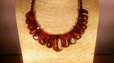 Natural Baltic Amber necklace ,  35 grams