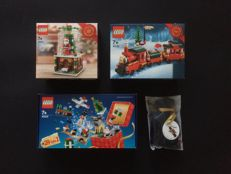 Seasonal + Christmas - 40223 + 40138 + 40222 + 5004420 - Snowglobe + Christmas Train + Holiday Countdown Calendar +  Toy Soldier Ornament