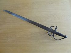 Antique European Basket Hilted  Sword, probably Lowland Scots