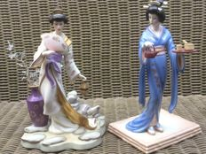 2 x Chinese figurines