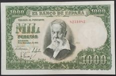 Spain - 1,000 pesetas from 1951 - NO SERIES!! - Pick 143