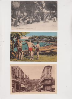 Superb lot of 20 old postcards of France, very animated