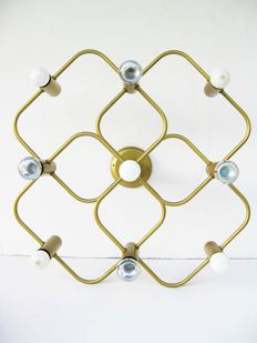 Gaetano Sciolari for Sciolari Roma Large pendant light with 9 light points, 1970/80s